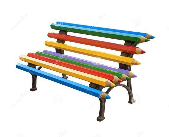 עיצוב מרחבים חינוכיים -ספסל לחצר בית הספר