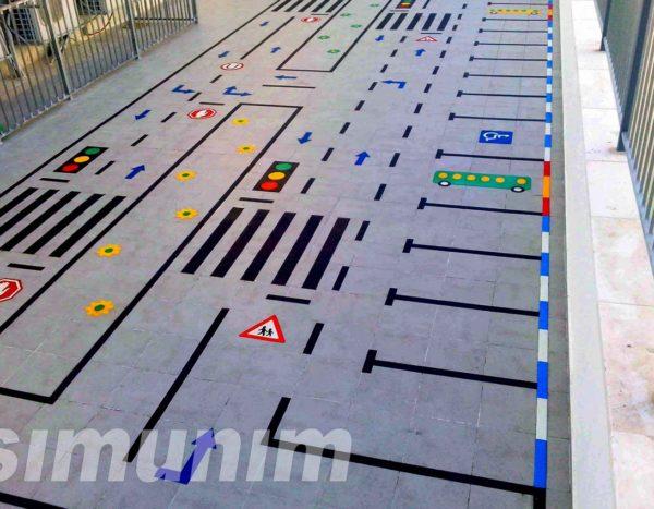 משחק רצפה   זהירות בדרכים