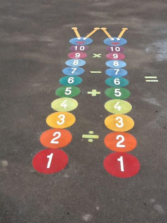 משחקי רצפה- תרגילי חשבון