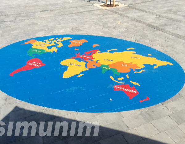 משחקי רצפה -מפה העולם
