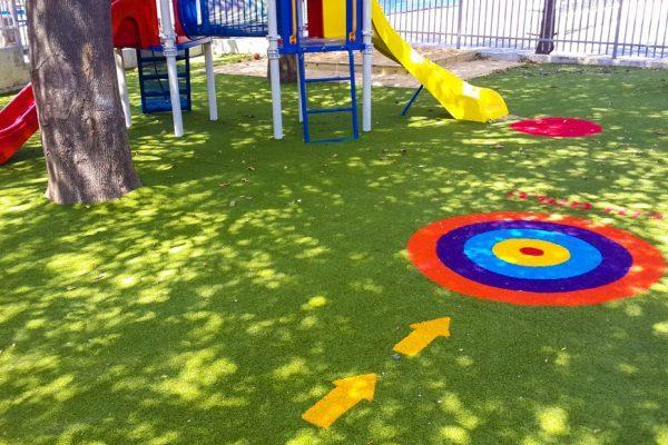משחקי רצפה על דשא סינטטי
