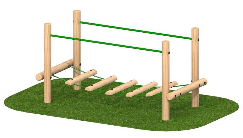 """גן המשחקים הטבעי  – גשר  עץ  מתנדנד- מק""""ט 1003"""