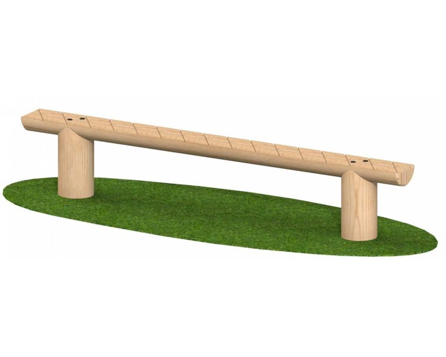 """מתקני ספורט מעץ –  קורת שווי משקל-מק""""ט 1001"""