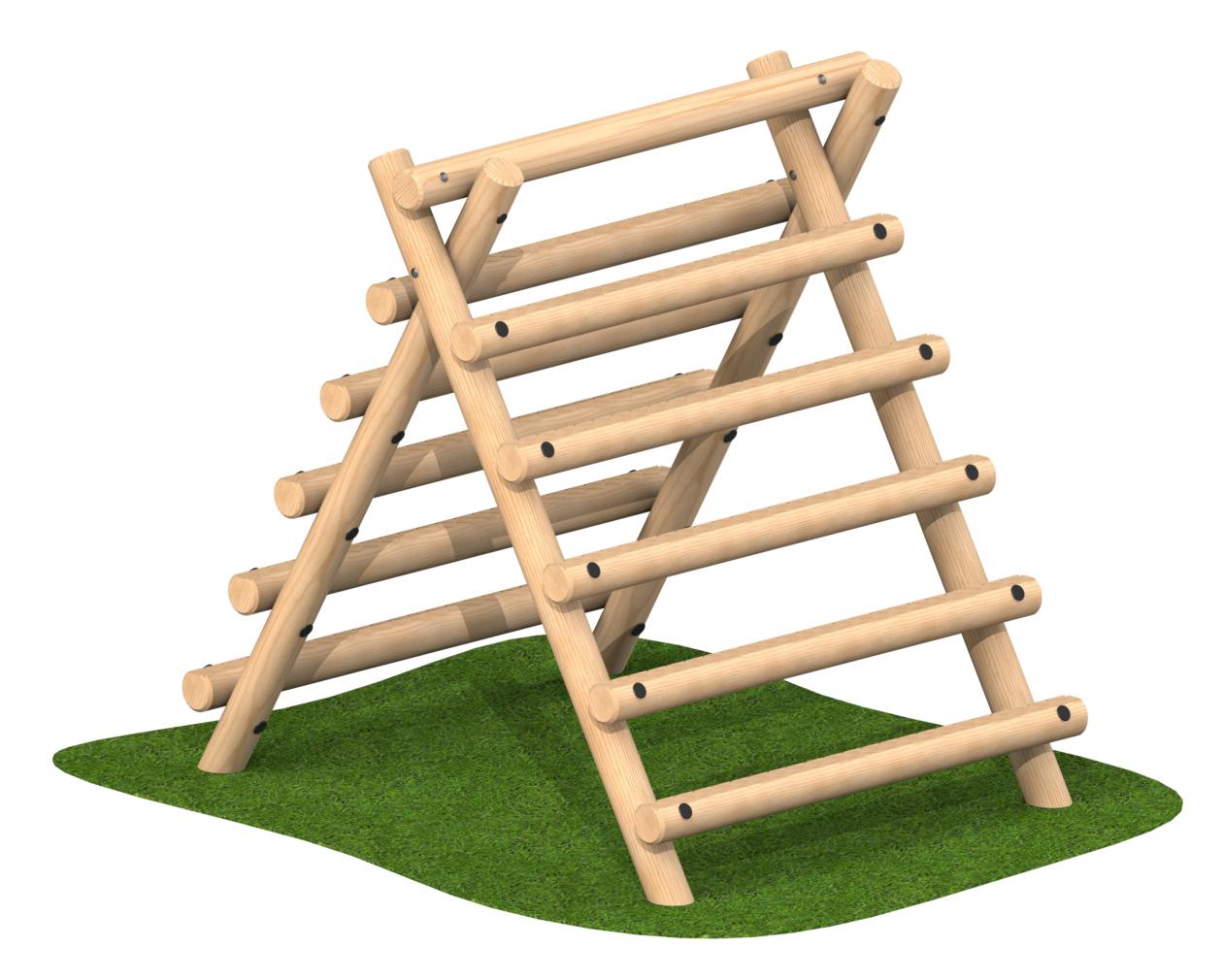 קיר טיפוס משולש מבולי עץ