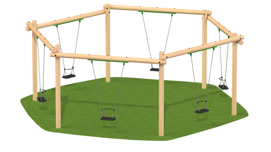 Six Seat Hexagonal Swing